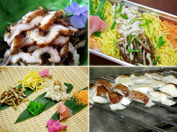 焼鯛と焼穴子のちらし寿司