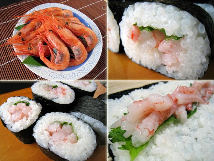 あまエビ巻き寿司,あま海老巻き寿司