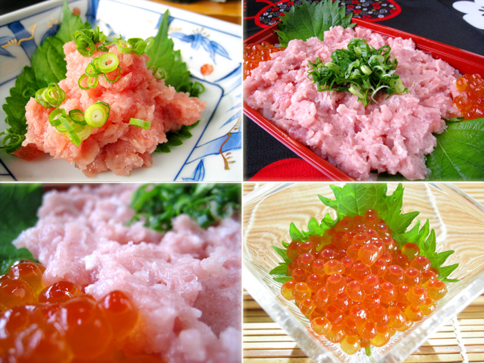 ネギトロとイクラの寿司