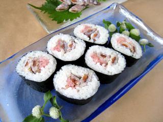 シャコ巻き寿司