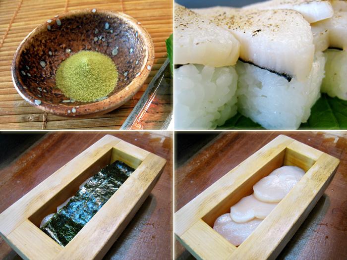 タイラギ貝押し寿司,たいらぎ貝押し寿司